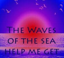 Waves of the Sea on Pink Horizon Sticker
