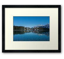 Explore Canada Framed Print