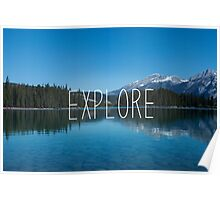 Explore Canada Typography Print Poster