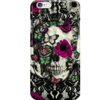 Victorian Gothic Lace skull iPhone Case/Skin