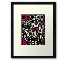 Victorian Gothic Lace skull Framed Print