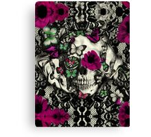 Victorian Gothic Lace skull Canvas Print