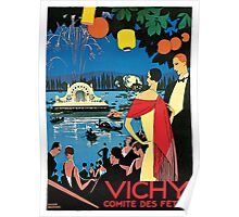 1920s Vichy French high society travel advert Poster
