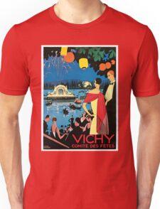 1920s Vichy French high society travel advert Unisex T-Shirt