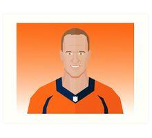 Peyton Manning Poly Art Print