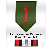 1st Infantry Afghanistan Poster