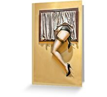 Window girl Greeting Card