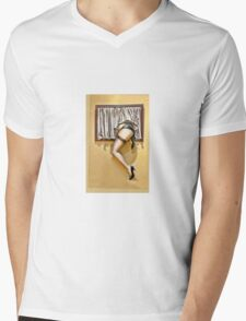 Window girl Mens V-Neck T-Shirt
