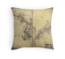 068  Preliminary sketch of a portion of the Belle Grove or Cedar Creek battlefield area Throw Pillow