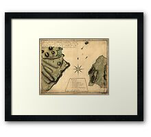 American Revolutionary War Era Maps 1750-1786 238 A plan of the Narrows of Hells gate in the East River near which batteries of cannon and mortars were Framed Print