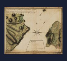 American Revolutionary War Era Maps 1750-1786 238 A plan of the Narrows of Hells gate in the East River near which batteries of cannon and mortars were Baby Tee