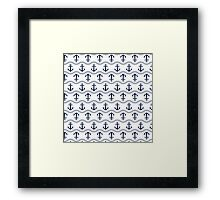 Anchor seamless pattern Framed Print