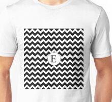 E Black Chevron Unisex T-Shirt