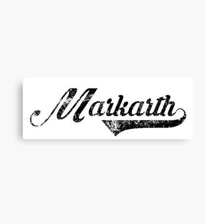Skyrim Markarth Distressed Sports Lettering Canvas Print