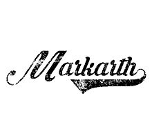 Skyrim Markarth Distressed Sports Lettering Photographic Print