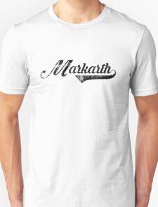 Skyrim Markarth Distressed Sports Lettering Unisex T-Shirt