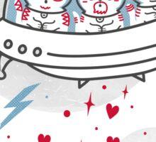 Cosmic Love Attack Sticker