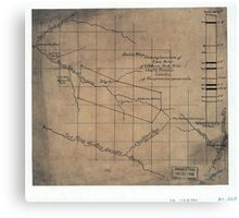 244 Sketch map showing location of 5 007 acres of Elkhorn Fork W Va coal timber lands Canvas Print