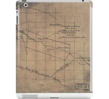 244 Sketch map showing location of 5 007 acres of Elkhorn Fork W Va coal timber lands iPad Case/Skin