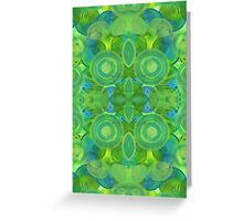 Green circles - 2016 Greeting Card