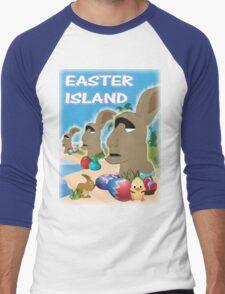 Easter Island Men's Baseball ¾ T-Shirt