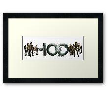 The 100 cast Framed Print