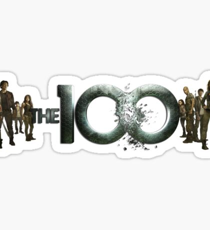The 100 cast Sticker