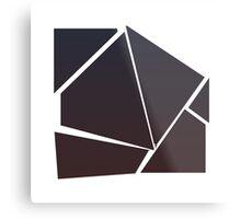 Minimalist Destruction - Square Metal Print