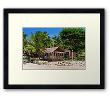 Beach Side Nipa Hut Framed Print