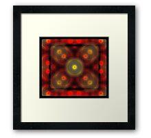 the matrix of converging spirals  Framed Print