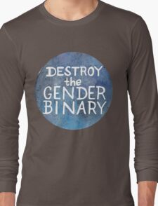 Destroy The Gender Binary Long Sleeve T-Shirt