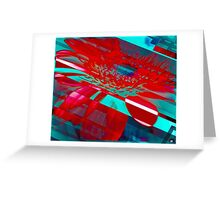 Hyper Flower Power Greeting Card