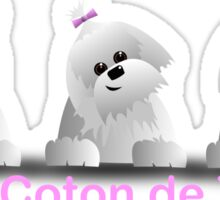 Tilting head coton Sticker
