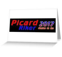 Picard/Riker 2017 Sticker Greeting Card