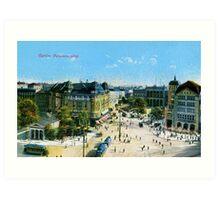 Vintage 1900 Berlin Potsdam Square Potsdamerplatz Art Print