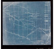 244 Sketch map showing location of 5 007 acres of Elkhorn Fork W Va coal timber lands Inverted Photographic Print
