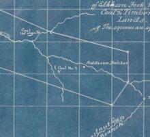 244 Sketch map showing location of 5 007 acres of Elkhorn Fork W Va coal timber lands Inverted Sticker