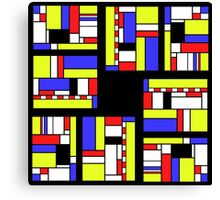 Yellow blue red white and black Canvas Print
