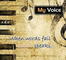 MyVoice Karaoke App for iPhone and iPad whwn words fail music speaks by creative technosoft systems