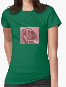DUSKY PALE PINK ENGLISH ROSE Womens Fitted T-Shirt