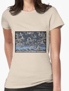 Freezing Frenzy Womens Fitted T-Shirt