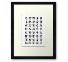 coffee word search puzzle Framed Print