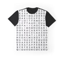 coffee word search puzzle Graphic T-Shirt