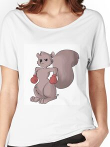 Boxing Squirrel  Women's Relaxed Fit T-Shirt