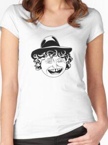 Tom Baker Black & White Portrait Women's Fitted Scoop T-Shirt