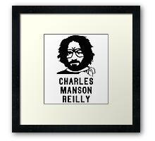 Charles Manson Reilly W/ Text Framed Print