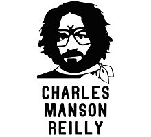Charles Manson Reilly W/ Text Photographic Print