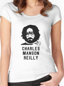 Charles Manson Reilly W/ Text Women's Fitted Scoop T-Shirt