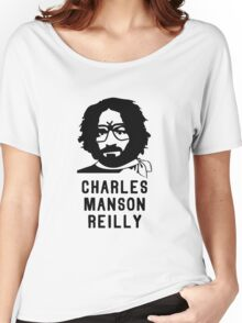 Charles Manson Reilly W/ Text Women's Relaxed Fit T-Shirt