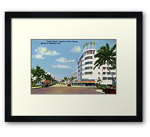 Fifties style Miami Lincoln road Exclusive shopping Framed Print